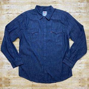 NWT Levi's denim button down shirt